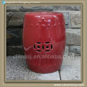 "RYIR99 17"" Red outdoor table Stool"