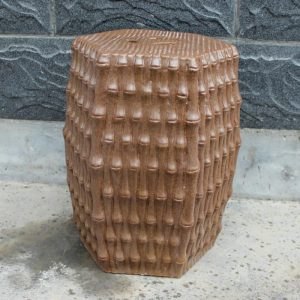 "RYJF09 16.5"" outdoor chair Ceramic garden seat bamboo design"