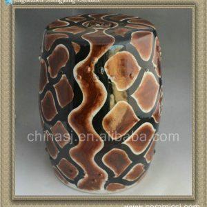 """RYNQ70 17"""" Hand painted garden stools ceramic"""