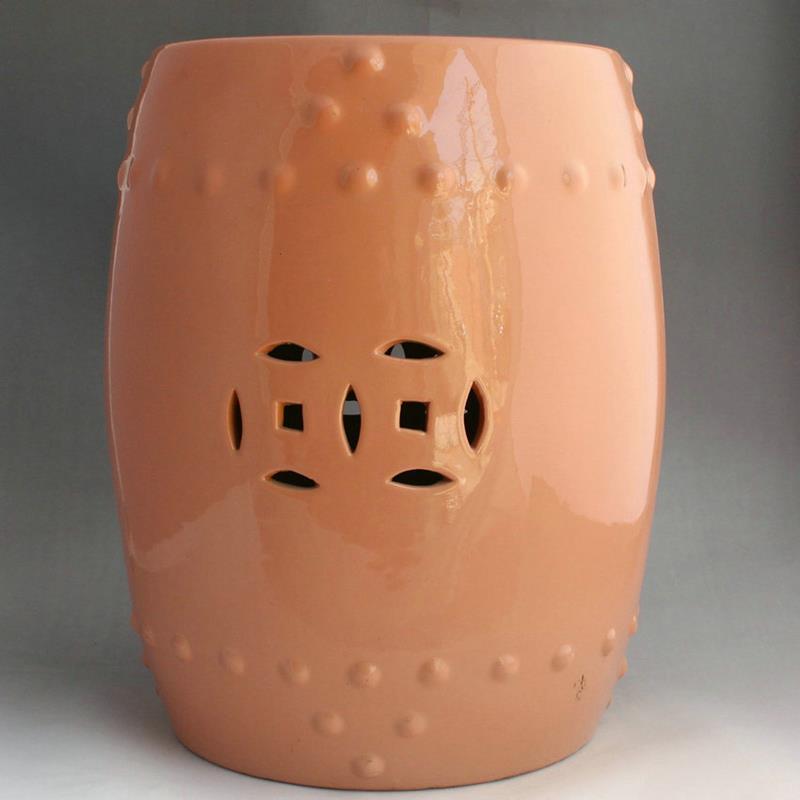Ordinaire Orange Ceramic Garden Stool Designs