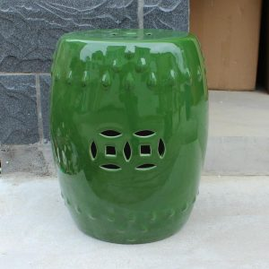 "RYNQ79 17.3"" Sold Green Ceramic Garden Stool"