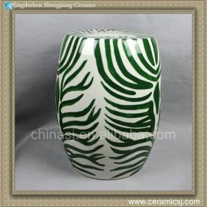 "RYNQ80 17.3"" Hand painted colorful Zebra Stool"