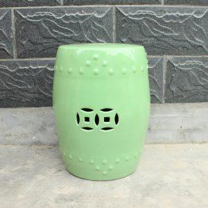 "RYNQ86 17.3"" Green Ceramic garden lounger Stools"