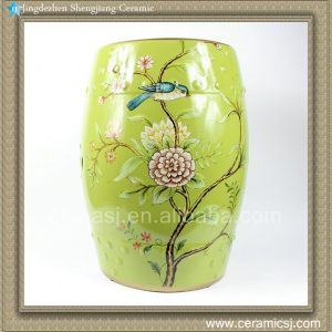 "RYYL08 18"" Home and garden Ceramic Flower bird Stool"