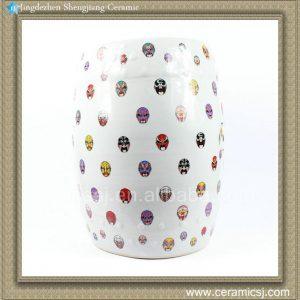 "RYYY01 H16.9"" Beijing Opera mask Outdoor garden Ceramic Stool"