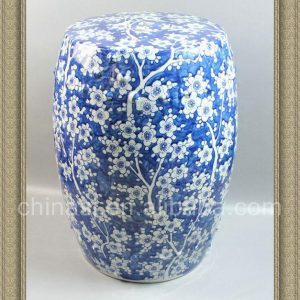 "RYZS01 18.5"" Counter stools Ceramic Blue and White floral Stool"