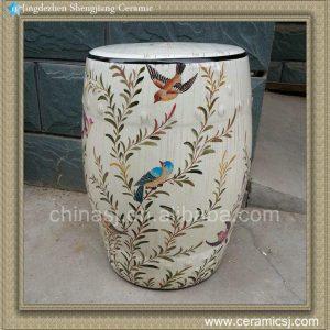 "RYZS03 18"" patio chairs flower bird Ceramic Stools"