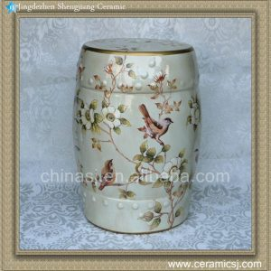"RYZS45 18"" Chinese furniture Ceramic Stool"