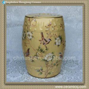 "RYZS47 18"" Porcelain chinese garden stools flower bird"
