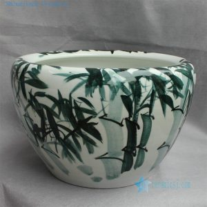 "RYYY12 D16"" Hand painted bamboo ceramic planter"