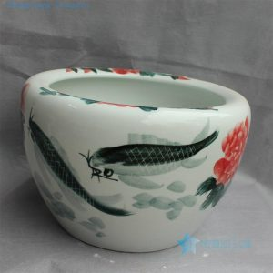 RYYY21 Hand painted ceramic flower pot Floral fish