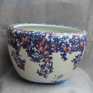 "RYYY24 D20.5"" Jingdezhen Hand painted ceramic Bowl peach design"