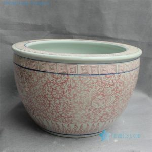 "RYYY26 D16.5"" Jingdezhen ceramic Bowl floral design"