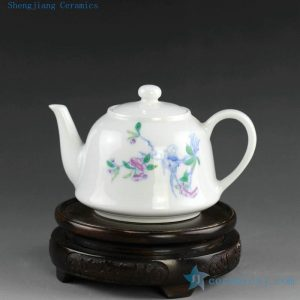 14AS120 195cc Chinese hand painted floral Porcelain Tea Pot