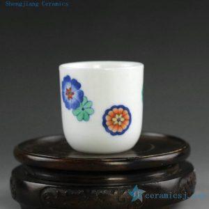 14AS145 55cc Hand painted floral Porcelain Cups