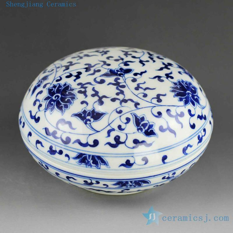 14as46 Jingdezhen Porcelain Inkpad Hand Painted Blue White
