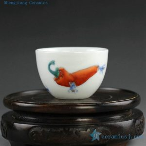 14AS68 40cc Chinese hand painted Porcelain Tea Cup