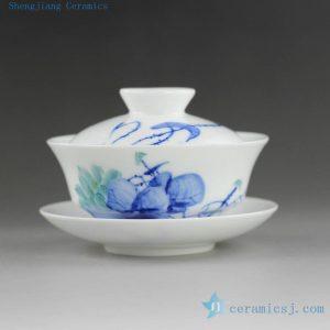 14H305 135cc Jingdezhen Hand painted floral Porcelain Gaiwan