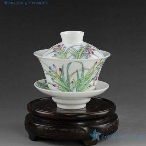 14NY12 100cc Jingdezhen Hand painted floral Porcelain Gaiwan