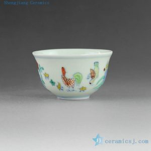 14YM09 80cc Hand made hand painted Jingdezhen Porcelain Tea Cups