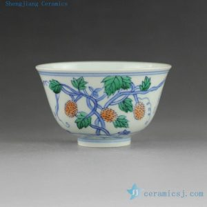 14YM10 Jingdezhen Porcelain Tea Cups Hand made hand painted
