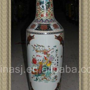RZAY01 56.5inch Chinese Famille rose Floor Vases