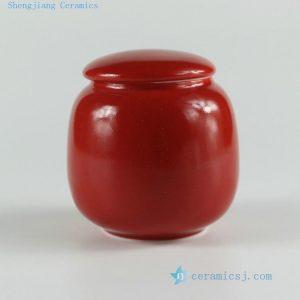 "RYKD20 H2.3"" jingdezhen red porcelain Tea Jar"