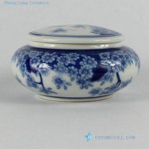 """RZBP02 H2"""" jingdezhen blue and white floral Tea Jar"""
