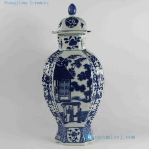 RYJF38-RYJF45 Blue White chinese export porcelain Vase
