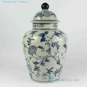 "RYPU18 14"" Blue and white bulk candy jars"