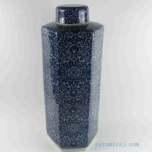RYTM38 h21inch wholesale blue and white ceramic jars