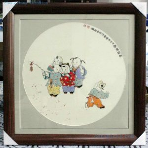"RZBI08 27.5"" Jindezhen Porcelain Wall Decor., Hand painted children design"