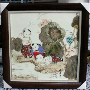 RZBI09 Jindezhen Porcelain Wall Decor., Hand painted children design