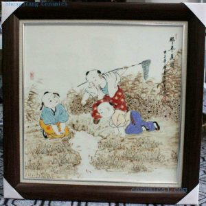 "RZBI12 27.5"" Jindezhen Porcelain Wall Hanging Decor., Hand painted children design"
