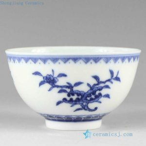 RYZ153 Hand painted blue and white Porcelain Tea Cup