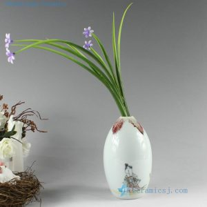 2D01 Small hand painted ceramic vases