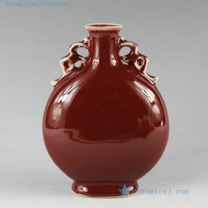 2L01 10 designs Ox blood small porcelain vase
