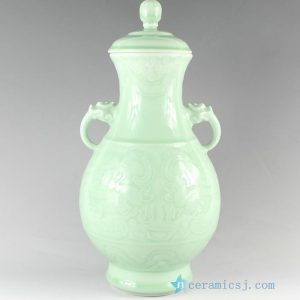 "RYKX19 H15"" home decor Celadon Porcelain decorative jars"