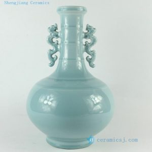 "RZCK01 H12.5"" home decor Blue Porcelain Vase"