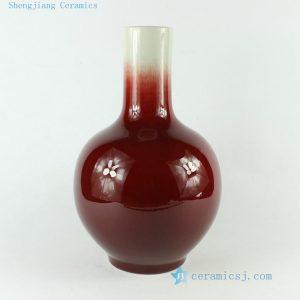 """RZCN03 H11.8"""" decorative modern vases Oxe Blood Red Porcelain Vase"""