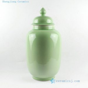 "RYKB93 H18.5"" Porcelain Temple Jar"
