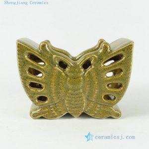 RZAK04 3.3inch Butterfly shape Porcelain Pen Holder