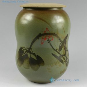 "h6"" Hand painted Ceramic Cookie Jar"