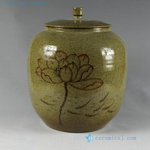 H24cm Porcelain hand made hand painted Tea Jars