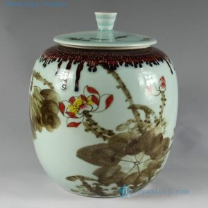 RZAR26 Hand made hand painted Porcelain Tea Jars