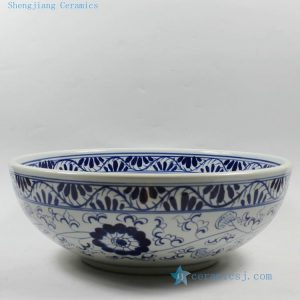 RZCE02 Jingdezhen Blue and white floral Ceramic Bowl