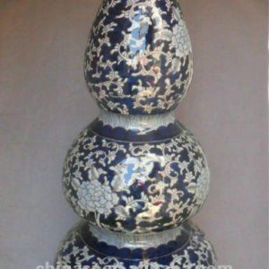blue and white gilt ceramic Home Decor Flower Vase RYTA07