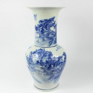 "RYCI34 18.9"" Jingdezhen Blue and White Ceramic Flower Vases"