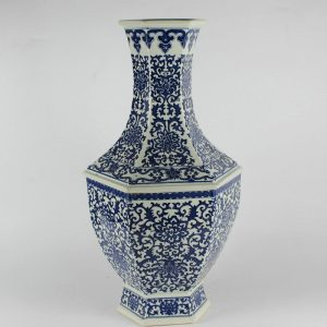 "RYJF13 H20.5"" Chinese Blue White Vases"
