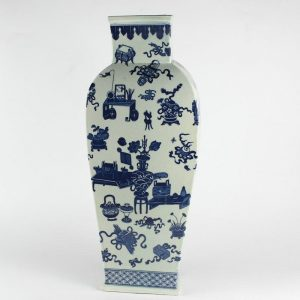 "RYJF14 h21"" Chinese Blue White Vases"